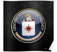 Central Intelligence Agency - CIA Emblem 3D on Black Velvet Poster