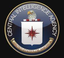 Central Intelligence Agency - CIA Emblem 3D on Black Velvet Kids Clothes