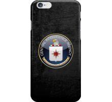 Central Intelligence Agency - CIA Emblem 3D on Black Velvet iPhone Case/Skin