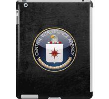 Central Intelligence Agency - CIA Emblem 3D on Black Velvet iPad Case/Skin