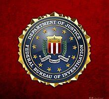 Federal Bureau of Investigation - FBI Emblem 3D on Red Velvet by Captain7