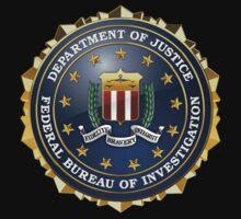 Federal Bureau of Investigation - FBI Emblem 3D on Red Velvet Kids Clothes