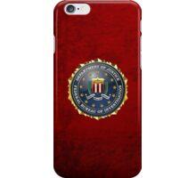 Federal Bureau of Investigation - FBI Emblem 3D on Red Velvet iPhone Case/Skin