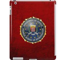 Federal Bureau of Investigation - FBI Emblem 3D on Red Velvet iPad Case/Skin
