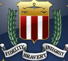 Federal Bureau of Investigation - FBI Emblem 3D on Blue Velvet Sticker