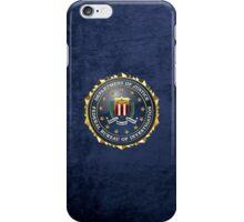Federal Bureau of Investigation - FBI Emblem 3D on Blue Velvet iPhone Case/Skin