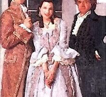 Chauvelin, Sir Percy and Marguerite  water colour by DrWhoJohnSmith