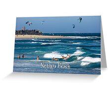 Bodysurfers - Nobbys Beach Greeting Card
