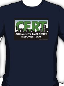 CERT Logo for Los Angeles Fire Department - High Resolution 300 DPI T-Shirt