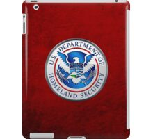 Department of Homeland Security - DHS Emblem 3D on Red Velvet iPad Case/Skin