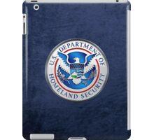 Department of Homeland Security - DHS Emblem 3D on Blue Velvet iPad Case/Skin