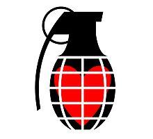 Love Hand Grenade Photographic Print