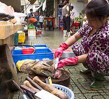 preparing fish by Anne Scantlebury