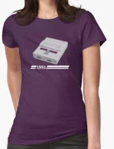 History of Gaming - SNES Womens Fitted T-Shirt
