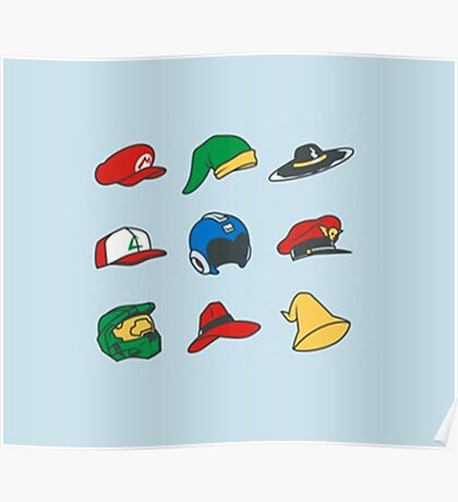 Game Hats Poster