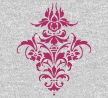 Damask Pattern | Hot Pink & White Kids Tee