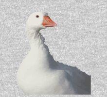 Wild White Duck Background Removed Kids Tee