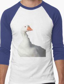 Wild White Duck Background Removed Men's Baseball ¾ T-Shirt