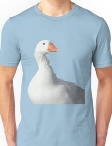 Wild White Duck Background Removed Unisex T-Shirt