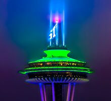 Space Needle and the 12th Man  by Jim Stiles