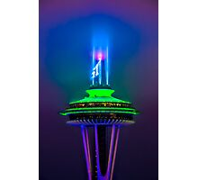 Space Needle and the 12th Man  Photographic Print