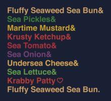 Krabby Patty Recipes Kids Clothes