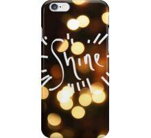 Shine White Lights Print iPhone Case/Skin