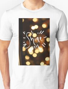 Shine White Lights Print Unisex T-Shirt