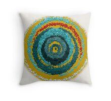 Rising Sun Unusual Mandala Throw Pillow