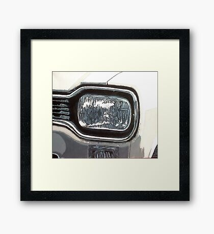 Mk.1 Ford Escort Headlamp Framed Print