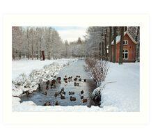 Winter in Geldrop - Nederland Art Print