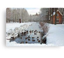 Winter in Geldrop - Nederland Canvas Print