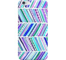 Gypsy Chevron Pattern, Handpainted in Watercolors iPhone Case/Skin
