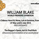 """for my friends . World  Exhibition -William Blake- 'A WORK …A SECRET """" by Andre  Furlan"""