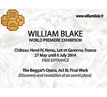 "for my friends . World  Exhibition -William Blake- 'A WORK …A SECRET "" Photographic Print"