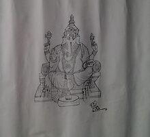 lord ganesha by divyabhargavi