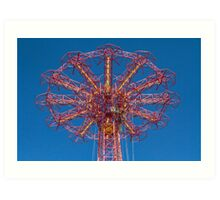 Coney Island Parachute Tower Art Print