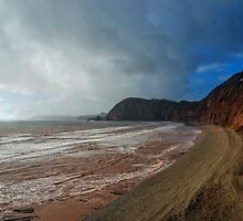 Red Cliffs At Sidmouth, Devon.UK by lynn carter