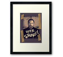 VOTE CROWLEY Framed Print