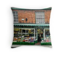 The Old Vegi Shop Throw Pillow