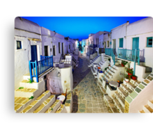 The Grand Rua of Folegandros Canvas Print