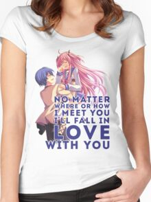 Yui and Hinata Women's Fitted Scoop T-Shirt