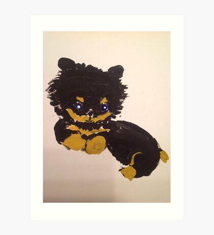 Little furry cute puppy Art Print