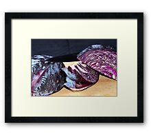 Cooking red cabbage Framed Print