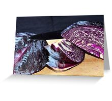 Cooking red cabbage Greeting Card