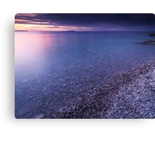 Georgian Bay Shore at Sunset art photo print Canvas Print