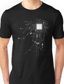 CPU Computer Heart White Unisex T-Shirt