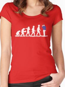 Evolution Spock! Women's Fitted Scoop T-Shirt