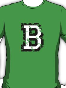 Letter B (Distressed) two-color black/white character T-Shirt