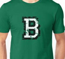 Letter B (Distressed) two-color black/white character Unisex T-Shirt
